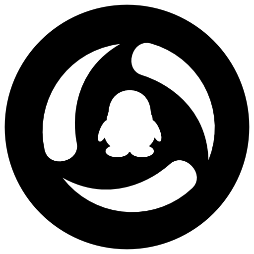 Qq Icon Free Of Address Book Providers In Black White Icons