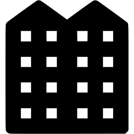 Black Apartment Icon