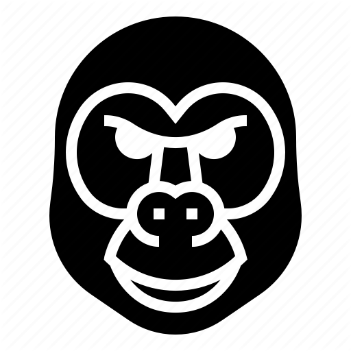 Animal, Ape, Gorilla, Monkey, Wild Icon