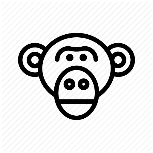 Ape, Chimp, Chimpanzee, Macaco, Monkey, Primate Icon