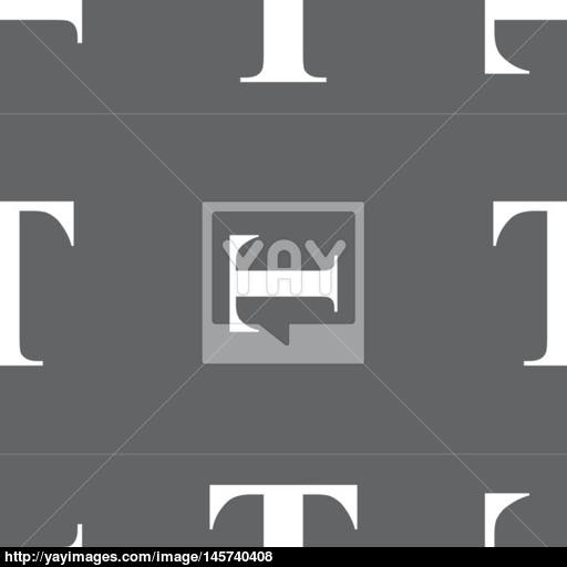 Text Edit Icon Sign Seamless Pattern On A Gray Background Vector