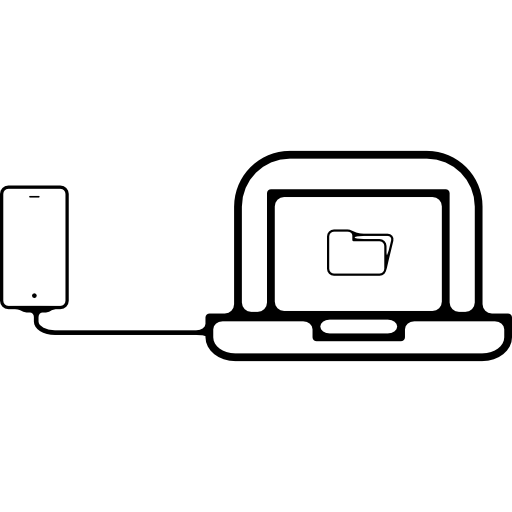 Mobile Phone Plugged To Laptop Icons Free Download