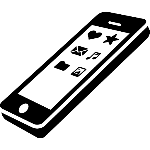 Cellphone Perspective With Apps Icons On Screen Icons Free
