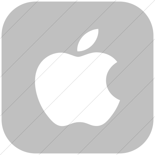 Flat Rounded Square White On Silver Broccolidry Apple Icon