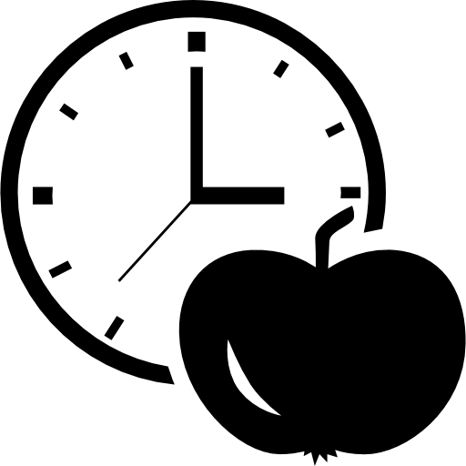 Apple And Clock Icons Free Download