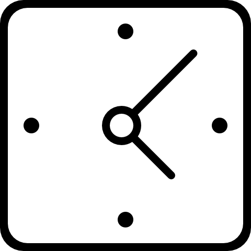 Clock Square Tool Shape Outline Icons Free Download