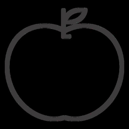 Flat Apple Fruit Stroke Icon