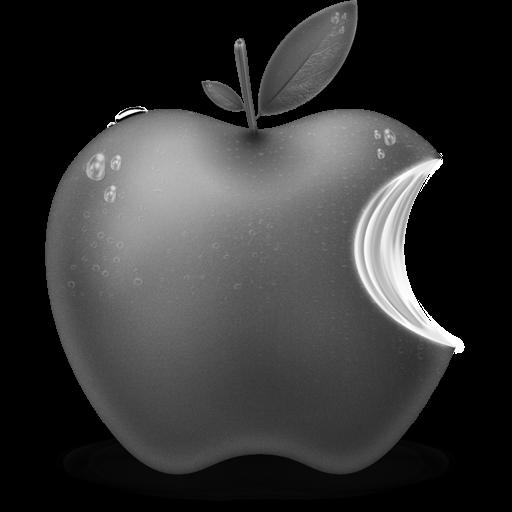 Grey Apple Fruit Icon