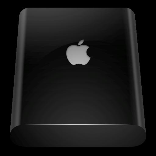 Black, External, Drive Icon