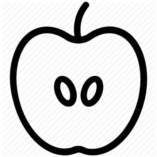 Apple, Apple Slice, Fresh Food, Fresh Fruit, Fruit, Half Apple Icon