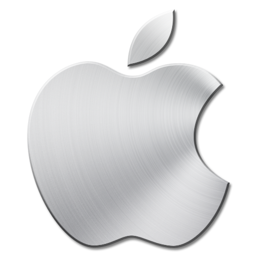 Brushed Metal Apple Mac Icon
