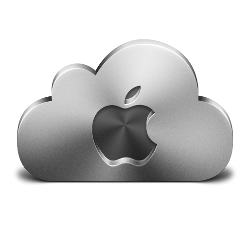 Cloud Apple Silver Icon