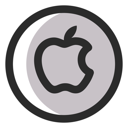 Apple Colored Stroke Icon