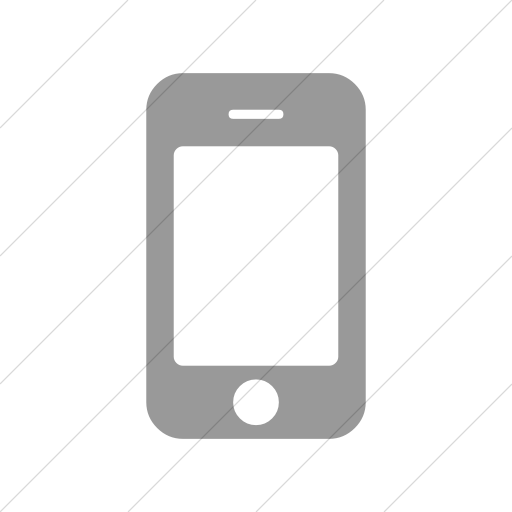 Simple Light Gray Bootstrap Font Awesome Mobile Phone Icon