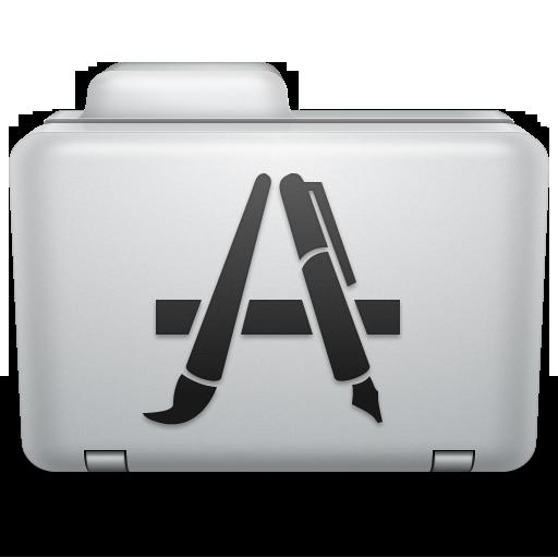 Noir Applications Folder Icon