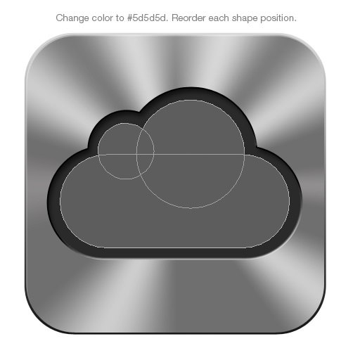 How To Draw Apple Icloud Icon Photoshop Tutorial