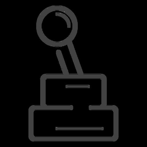 Arcade Joystick Stroke Icon