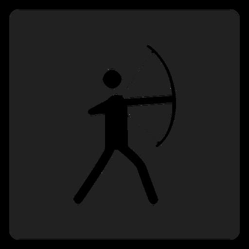 Archery Square Icon Archer