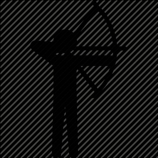 Archery, Arrow, Bow, Shooting, Sport, Target Icon