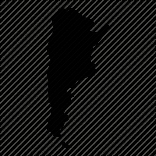 Argentina, Country, Location, Map, Republica Argentina Icon