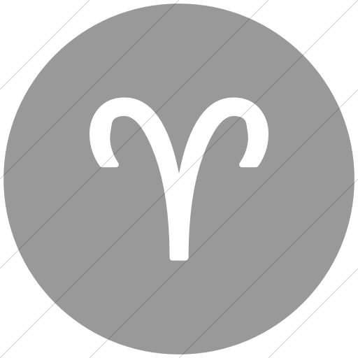 Flat Circle White On Light Gray Astrological Signs