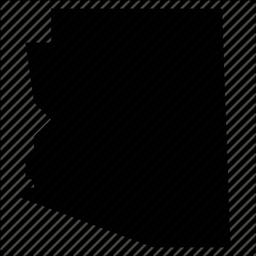 Arizona, Map, State, States, United States, Usa Icon