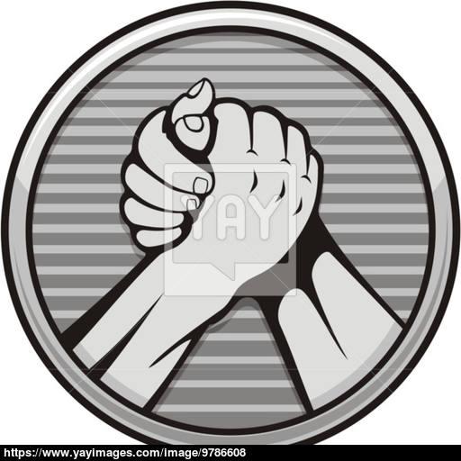 Arm Wrestling Icon Vector