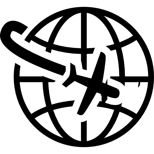 Airplane Flight Around The Planet