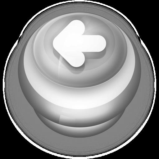 Button Grey Arrow Left Icon Pushdown Buttons Iconset Wackypixel