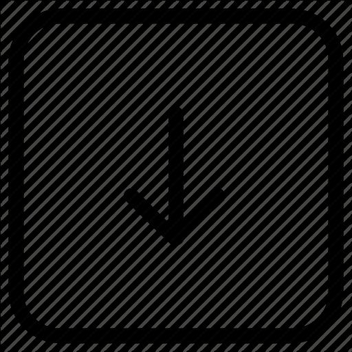 Arrow, Down, Function, Key Icon