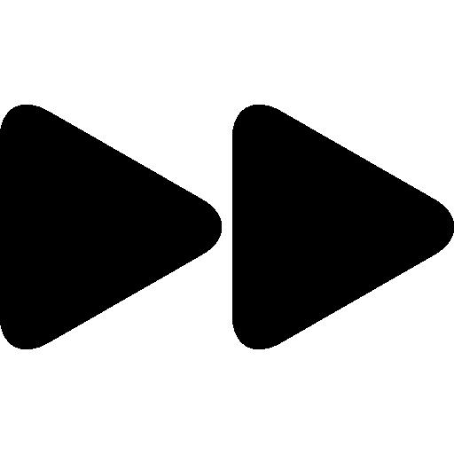 Fast Forward Arrowhead Symbol Icons Free Download