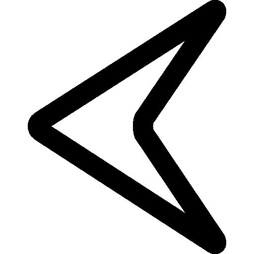 Left Arrowhead Outline