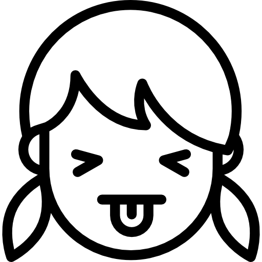 Girl Showing Tongue Free Vector Icons Designed