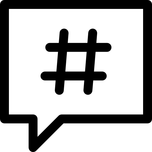 Hashtag Free Vector Icons Designed