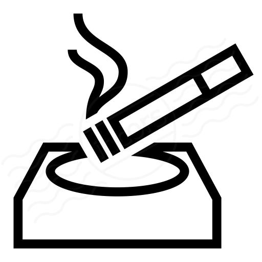 Iconexperience I Collection Ashtray Cigarette Icon