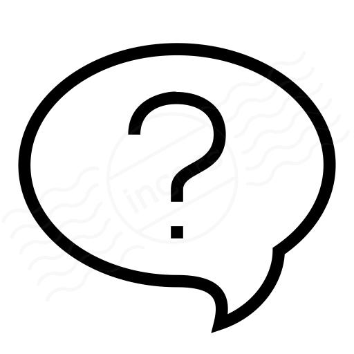 Iconexperience I Collection Speech Balloon Question Icon