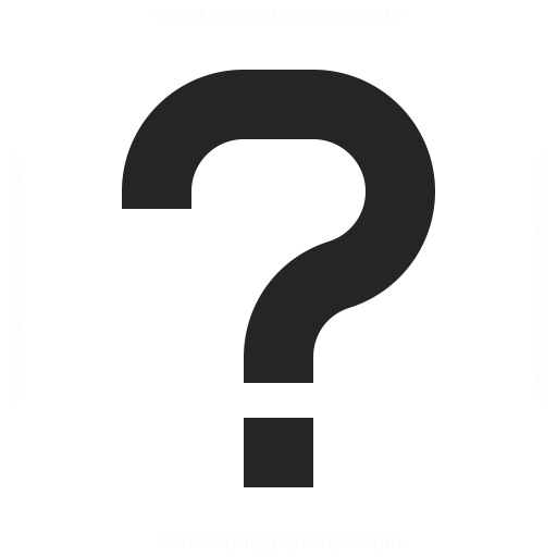 Symbol Questionmark Icon Iconexperience