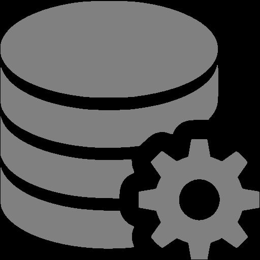 Gray Data Configuration Icon
