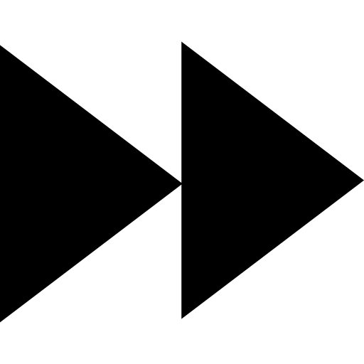 Forward Symbol Of A Couple Of Arrows Points In Black Triangular