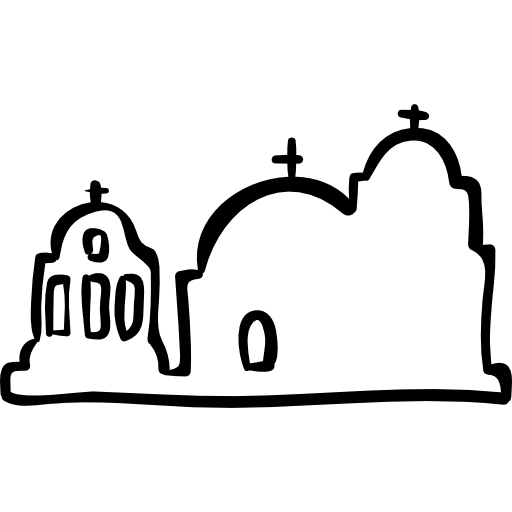 Religious Antique Buildings Outline Icons Free Download