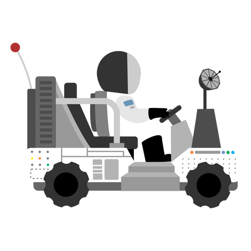 Astronaut Driving Lunar Rover Icon