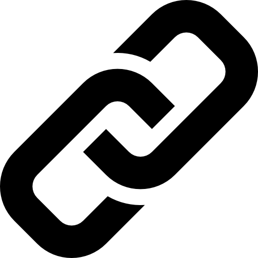Link Symbol Of Two Chains Links Linked Icons Free Download
