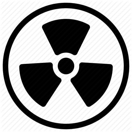 Atomic, Caution, Danger, Hazard, Nuclear Icon