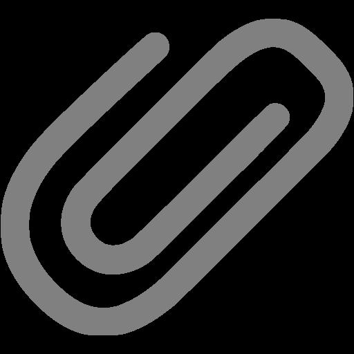 Gray Attach Icon