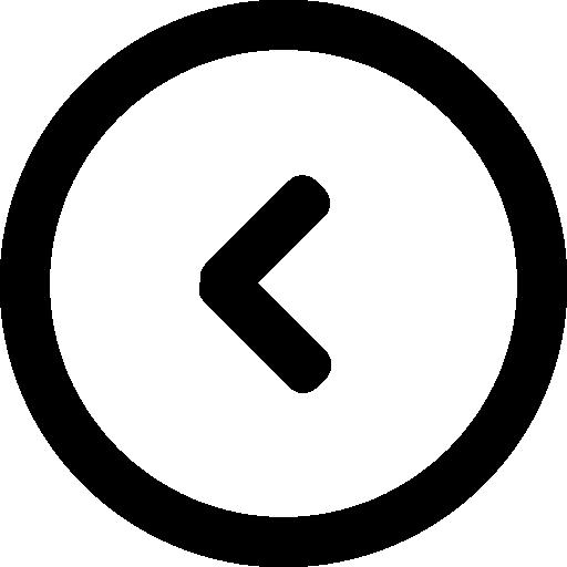 Left Arrow Back Circular Button