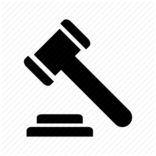 Auction, Court, Gavel, Hammer, Justice, Law, Tool Icon