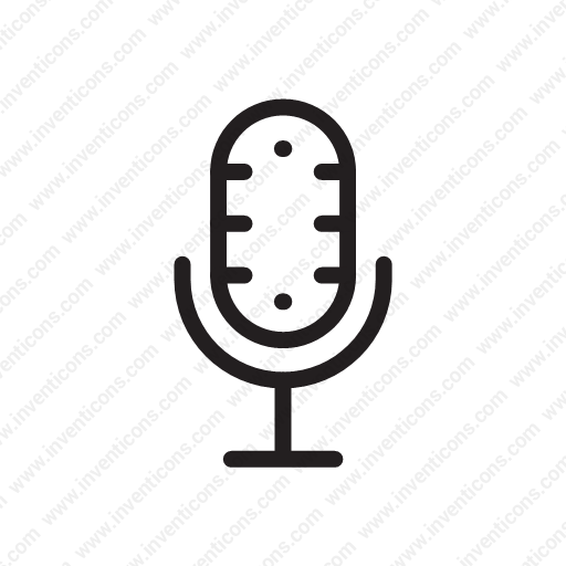 Download Mic,communication,record,news,audio Icon Inventicons