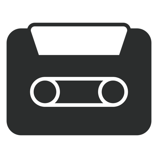 Audio Cassette Flat Icon