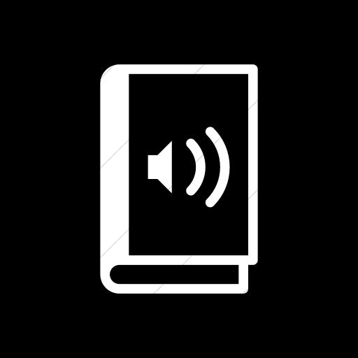 Flat Rounded Square White On Black Iconathon Audio Book