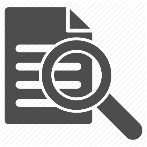 Audit, Check, Document, File, Report, Search, View Icon